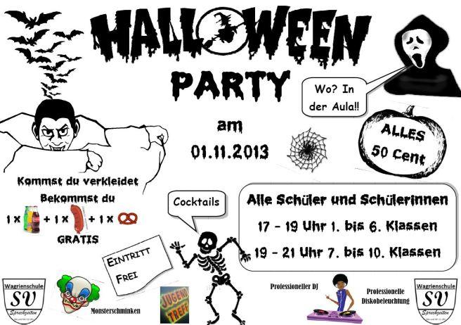 Halloweendisko Plakat